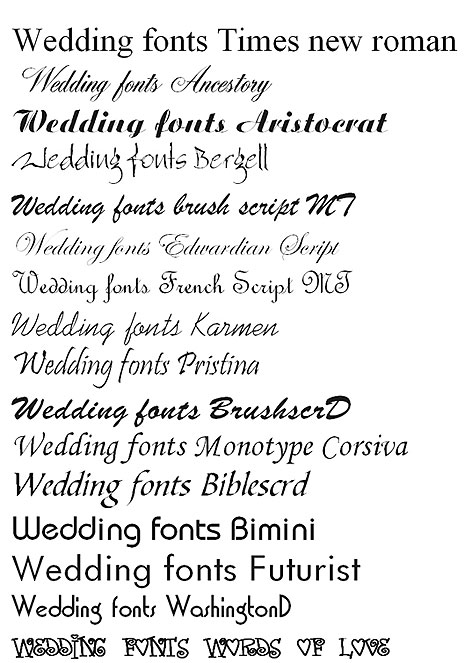 Download Wedding Invitations Fonts Free Software